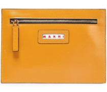 Woman Leather Pouch Saffron