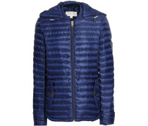 Quilted Shell Hooded Jacket Navy