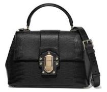 Lucia Lizard-effect Leather Shoulder Bag Black Size --