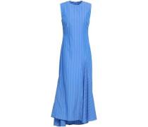 Nightwood Pinstriped Cotton-poplin Midi Dress Blue