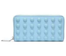 Appliquéd Leather Wallet Sky Blue Size --