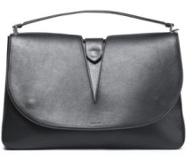 Cutout leather shoulder bag