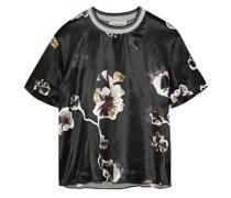 Opheelia floral-print satin T-shirt
