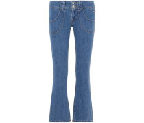 Electrify cropped low-rise kick-flare jeans