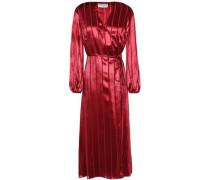 Woman Devoré-velvet Midi Wrap Dress Claret
