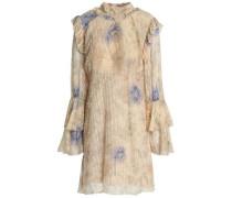 Floral-print fil coupé cotton and silk-blend mini dress