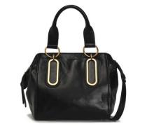 Woman Paige Medium Washed-leather Shoulder Bag Black