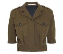 Fleet Cropped Cotton-blend Twill Jacket Army Green