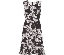Jana Floral-print Stretch-crepe Dress Black Size 12
