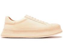 Woman Leather Sneakers Beige