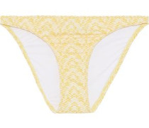 Aruba Printed Low-rise Bikini Briefs Pastel Yellow