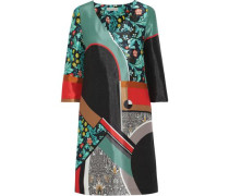 Printed Satin-twill Dress Multicolor