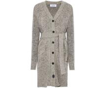 Marled wool-blend cardigan
