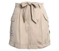 Belted satin shorts