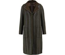 Herringbone wool and cashmere-blend coat