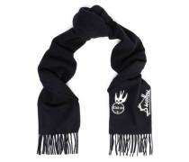 Appliquéd wool scarf