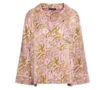 Jude Printed Satin Pajama Top Lilac