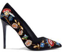 Woman Dina Embroidered Velvet Pumps Black