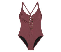 Majestic lace-up swimsuit