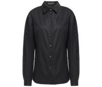 Polka-dot Cotton-poplin Shirt Charcoal