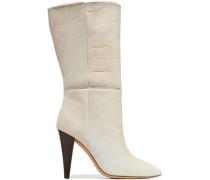 Grace Shearling Boots Beige