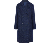 Double-breasted bouclé-tweed coat