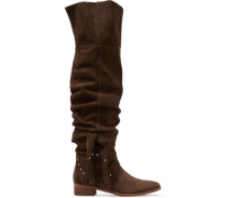 Dasha Dakar studded suede over-the-knee boots