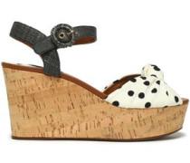 Printed knotted cady platform sandals