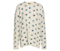 Printed Cashmere Sweater Ivory