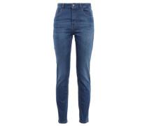 Embellished High-rise Slim-leg Jeans Mid Denim  5