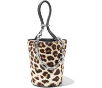 Roxy Chain-embellished Leopard-print Calf Hair Bucket Bag Animal Print Size --