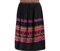 Amity embroidered cotton midi skirt