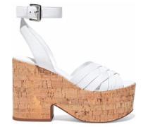 Becca leather platform sandals