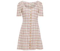 Checked Tencel-blend Mini Dress