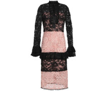 Two-tone corded lace dress