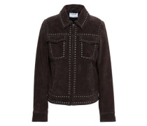 Studded Suede Jacket Chocolate