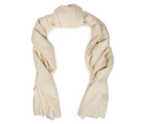 Frayed sequined silk-blend scarf