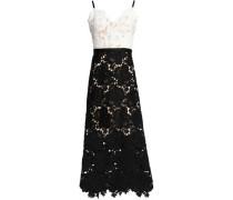 Frida two-tone guipure lace midi dress