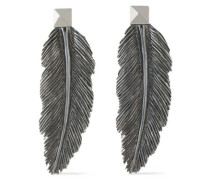 Gunmetal-tone earrings