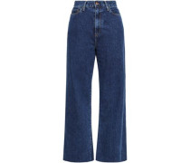 High-rise Wide-leg Jeans Dark Denim  4