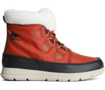 Carinival Fleece-trimmed Waterproof Shell Snow Boots Brick