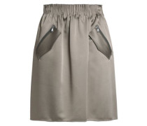 Gathered satin skirt