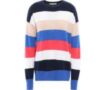 Striped Cashmere Sweater Navy