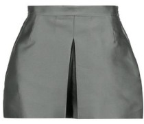 Box-pleated taffeta shorts