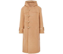 Brushed Wool-felt Hooded Coat Camel
