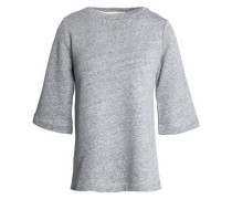 Marled Cotton And Linen-blend Terry Top Gray