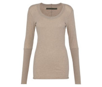 Cotton And Cashmere-blend Top Mushroom
