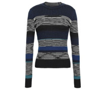 Intarsia Wool, Silk And Cashmere-blend Sweater Blue