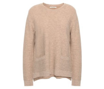 Ribbed Wool And Cashmere-blend Sweater Sand