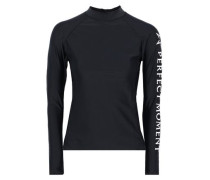 Printed Tech-jersey Rash Guard Black